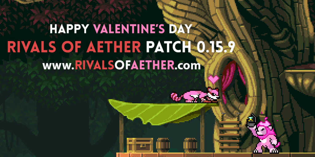 Rivals of Aether Valentines Day Patch 0.15.9